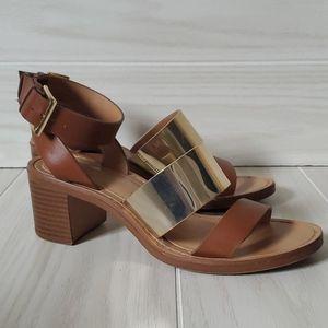 Zara Trafaluc Ankle Strap Chunky Heel Sandles